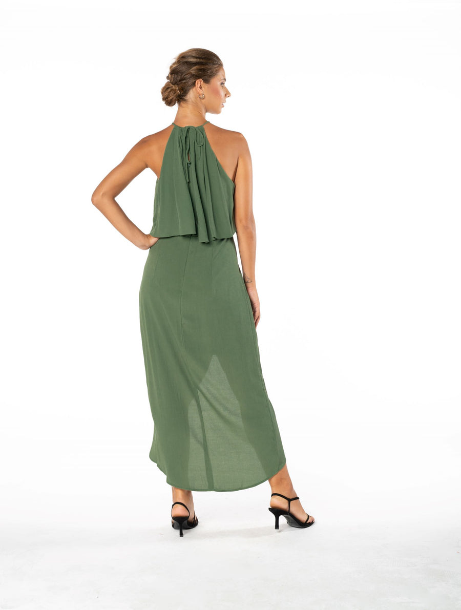 Lasting Love Dress - Olive Green