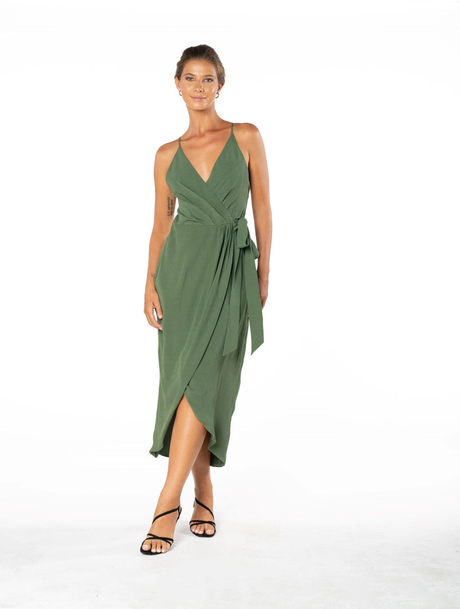 Blaze Of Passion Dress - Olive Green