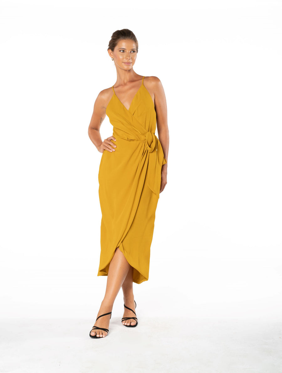 Blaze Of Passion Dress - Gold
