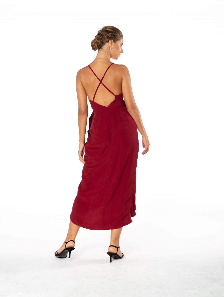 Blaze Of Passion Dress - Dark Rust