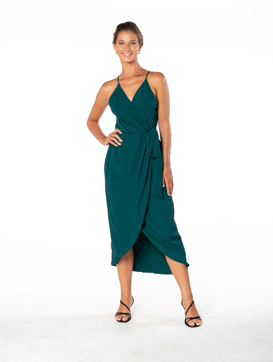 Blaze Of Passion Dress - Emerald Green