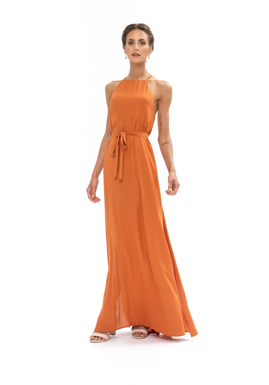 Marc Maxi Dress - Burnt Orange