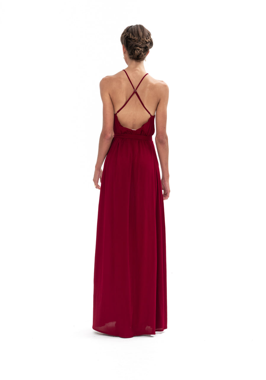 Marc Maxi Dress - Dark Rust