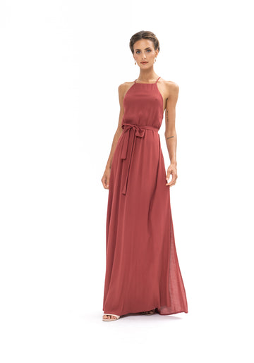 Marc Maxi Dress - Dusky Plum