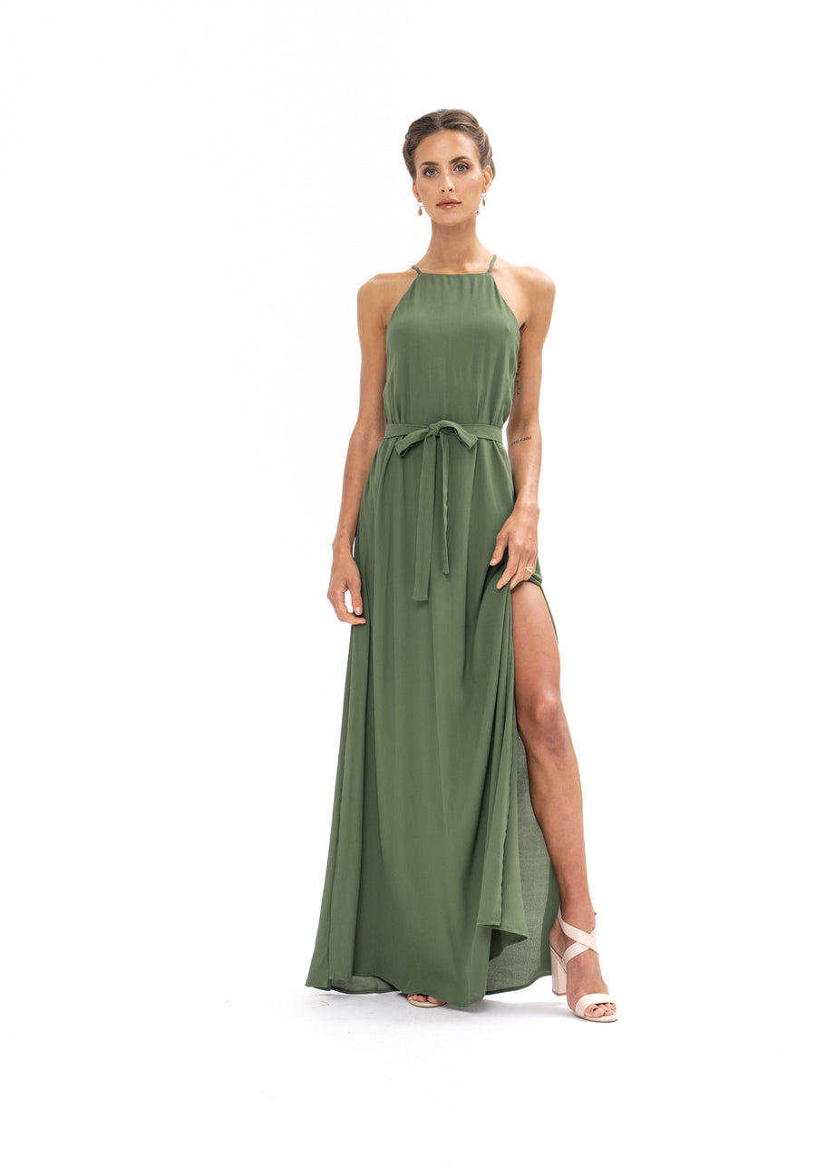 Marc Maxi Dress - Olive Green
