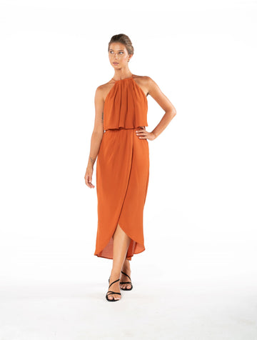 Lasting Love Dress - Burnt Orange