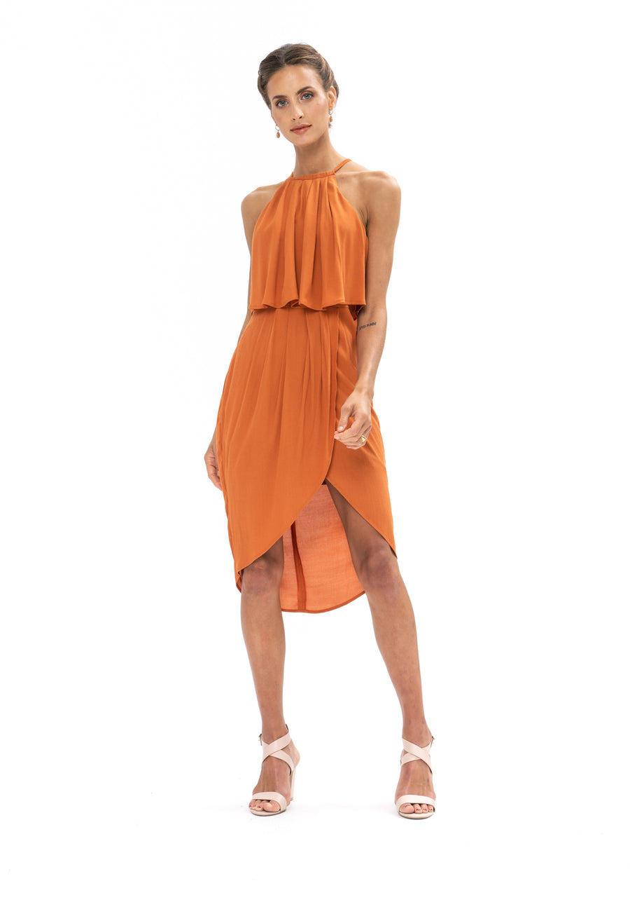 Call Me Dress - Burnt Orange
