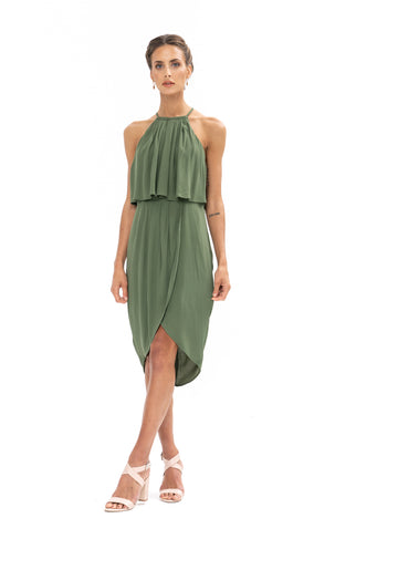 Call Me Dress - Olive Green