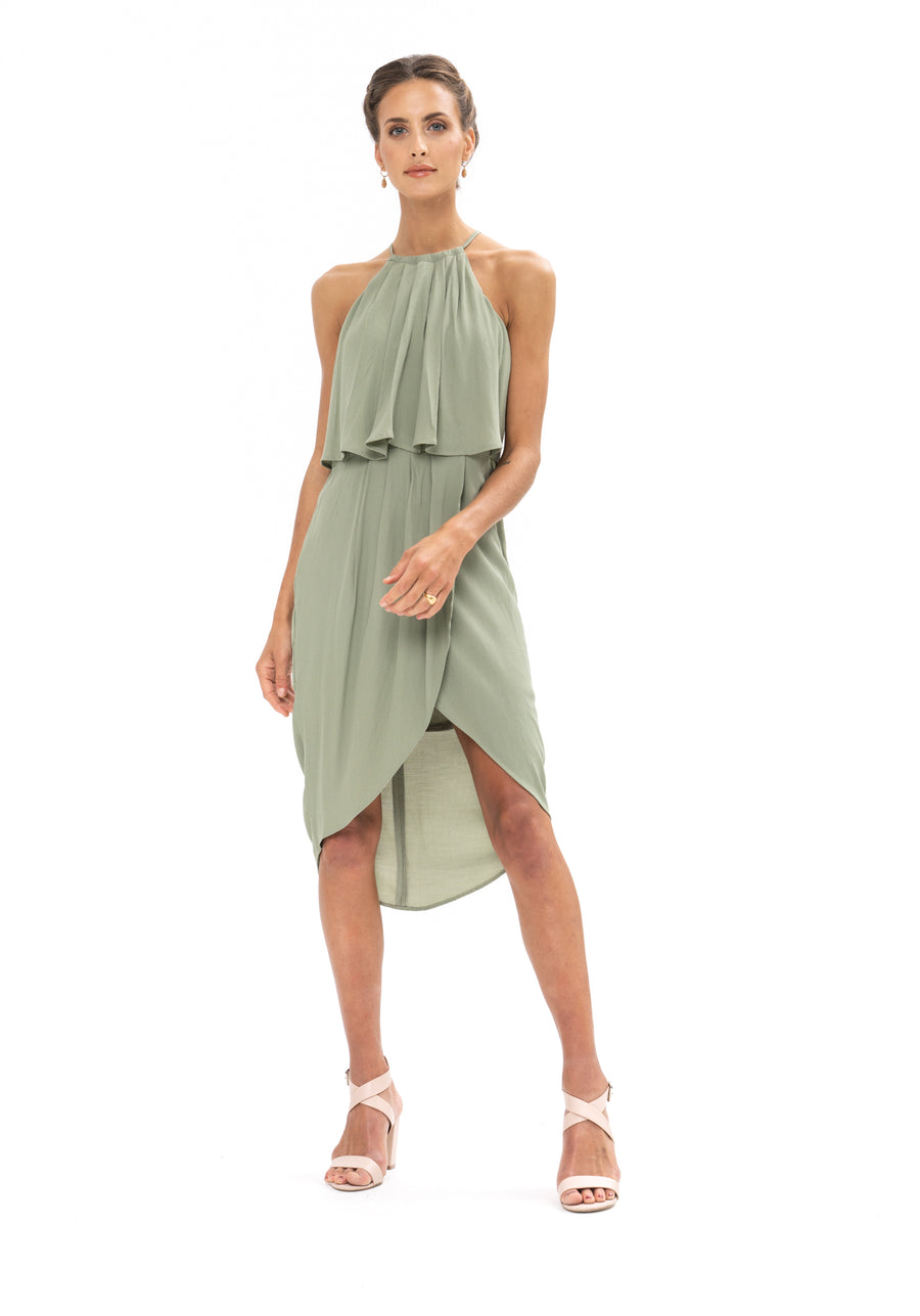 Call Me Dress - Sage Craft Green