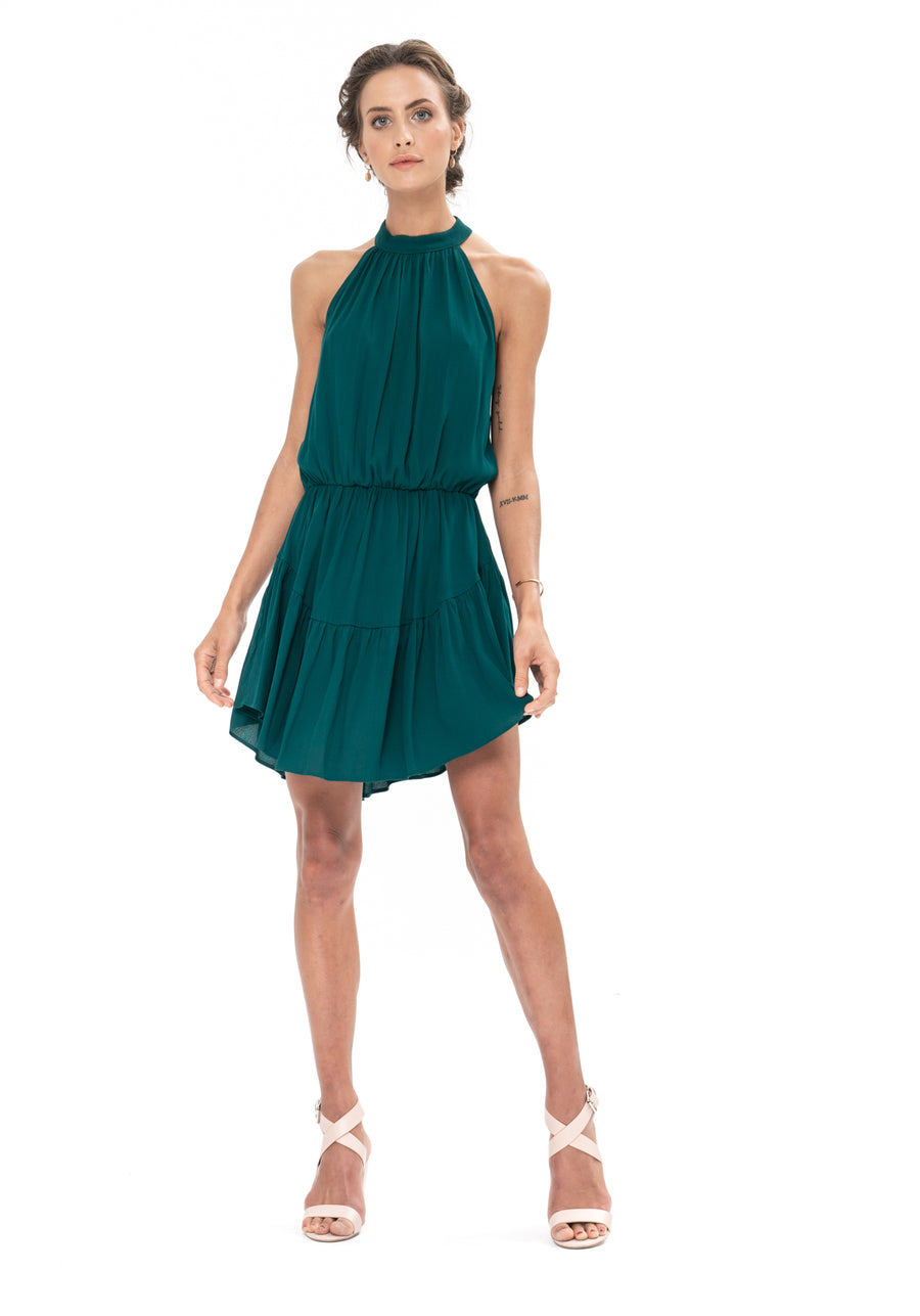 Lucid Dreams Dress - Emerald Green