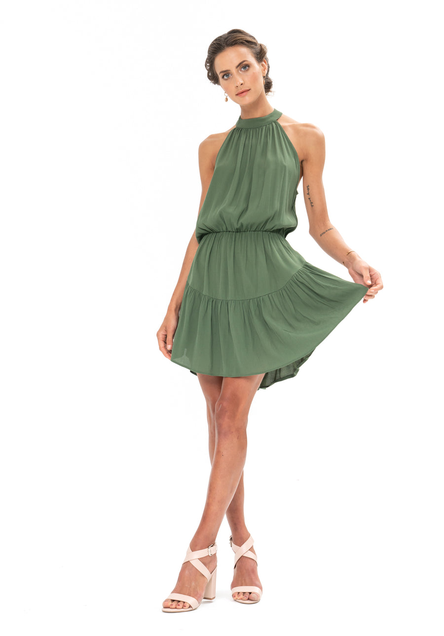 Lucid Dreams Dress - Olive Green
