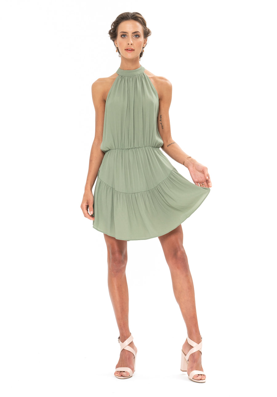 Lucid Dreams Dress - Sage Craft Green