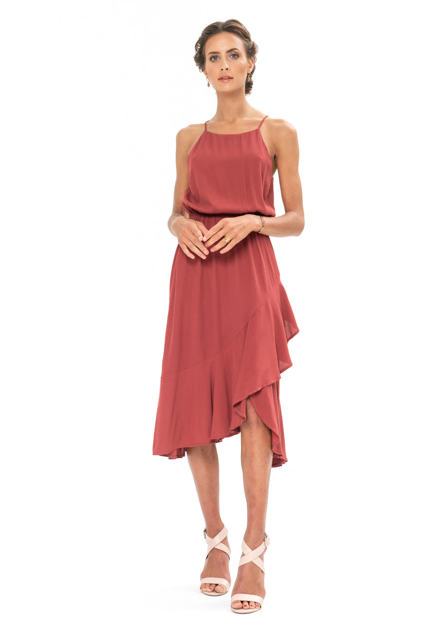 All That Matters Dress - Dusky Plum