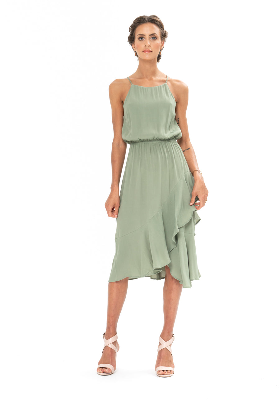 All That Matters Dress - Sage Craft Green
