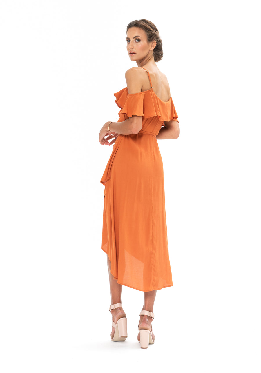 Money Never Lies Dress - Burnt Orange
