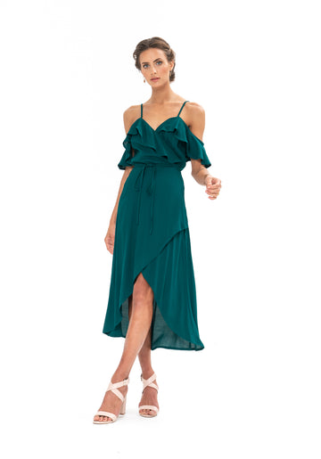 Money Never Lies Dress - Emerald Green