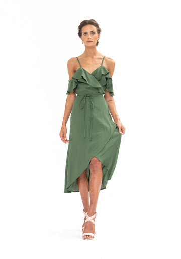 Money Never Lies Dress - Olive Green