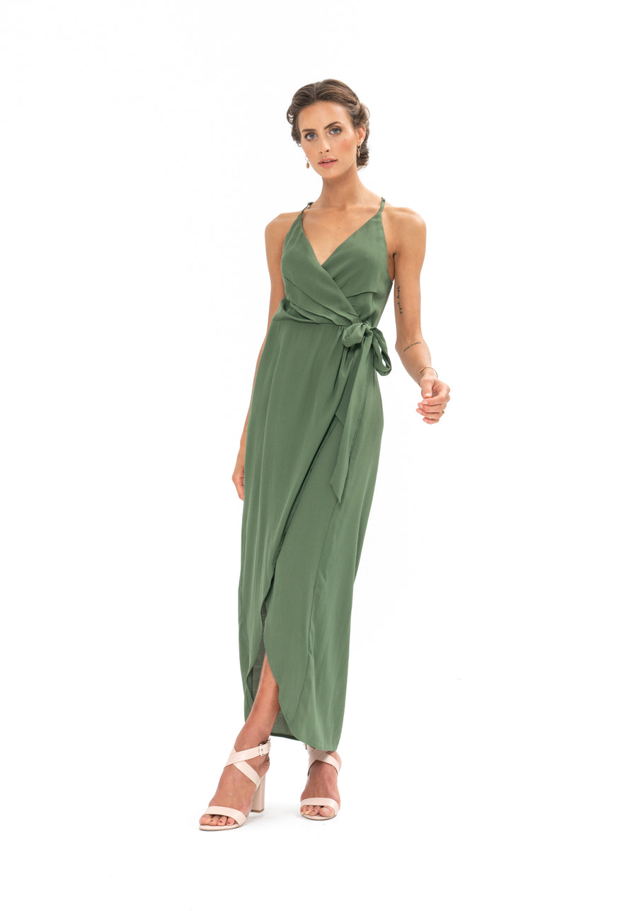 Kate Dress - Olive Green