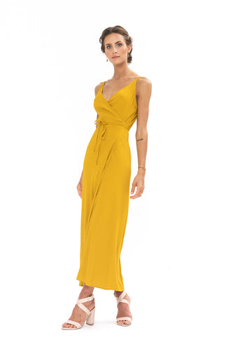 Global Wrap Dress - Gold