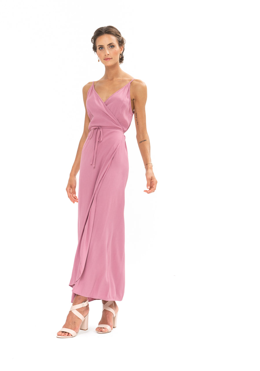Global Wrap Dress - Purple Blush