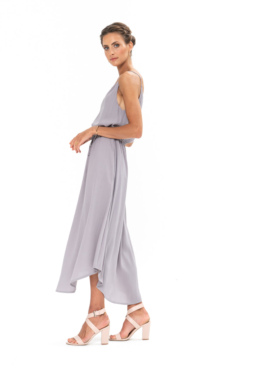 Drawstring Dress - Appaloosa Grey