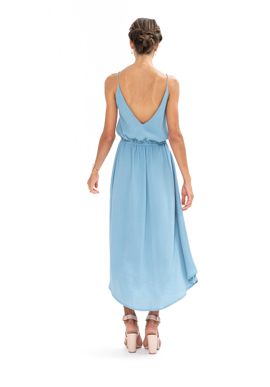 Drawstring Dress - Blue Floyd