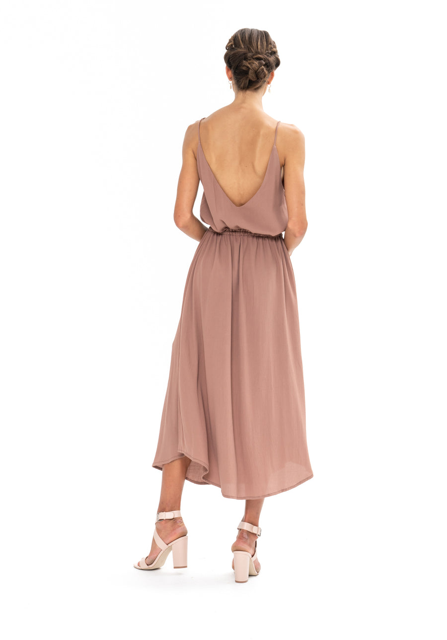 Drawstring Dress - Ibiza Brown