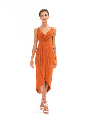 Cleo Dress - Burnt Orange