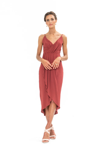 Cleo Dress - Dusky Plum