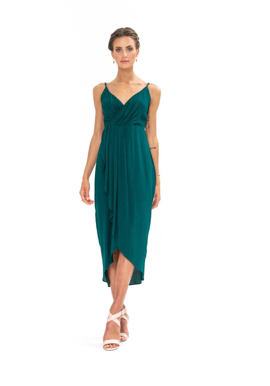 Cleo Dress - Emerald Green