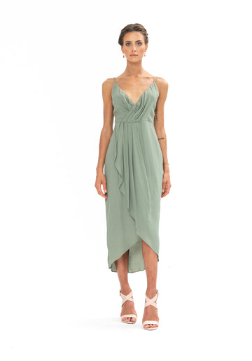 Cleo Dress - Sage Craft Green