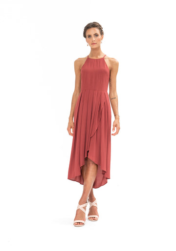 Brunch Dress - Dusky Plum