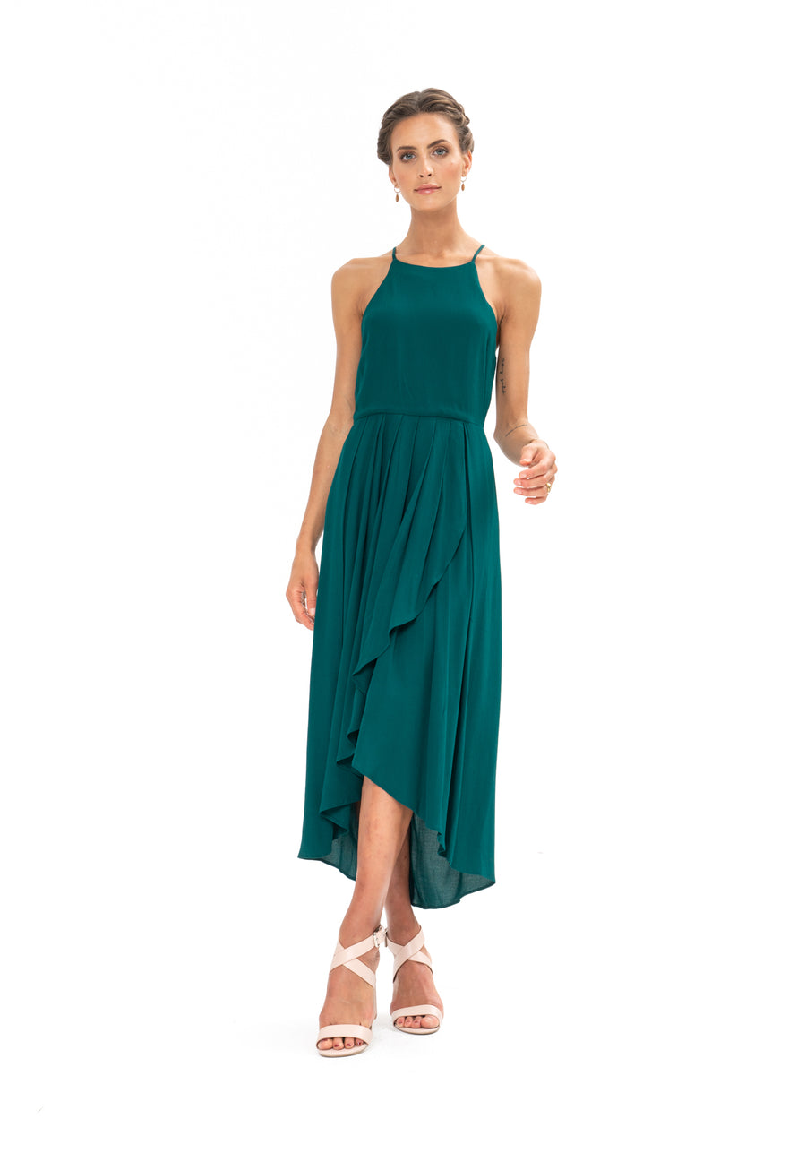 Brunch Dress - Emerald Green