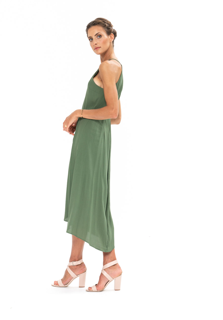 Brunch Dress - Olive Green