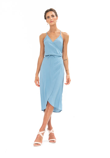 Friday Wrap Dress - Blue Floyd