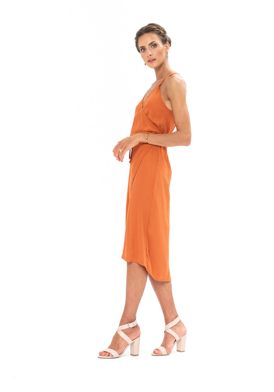 Friday Wrap Dress - Burnt Orange