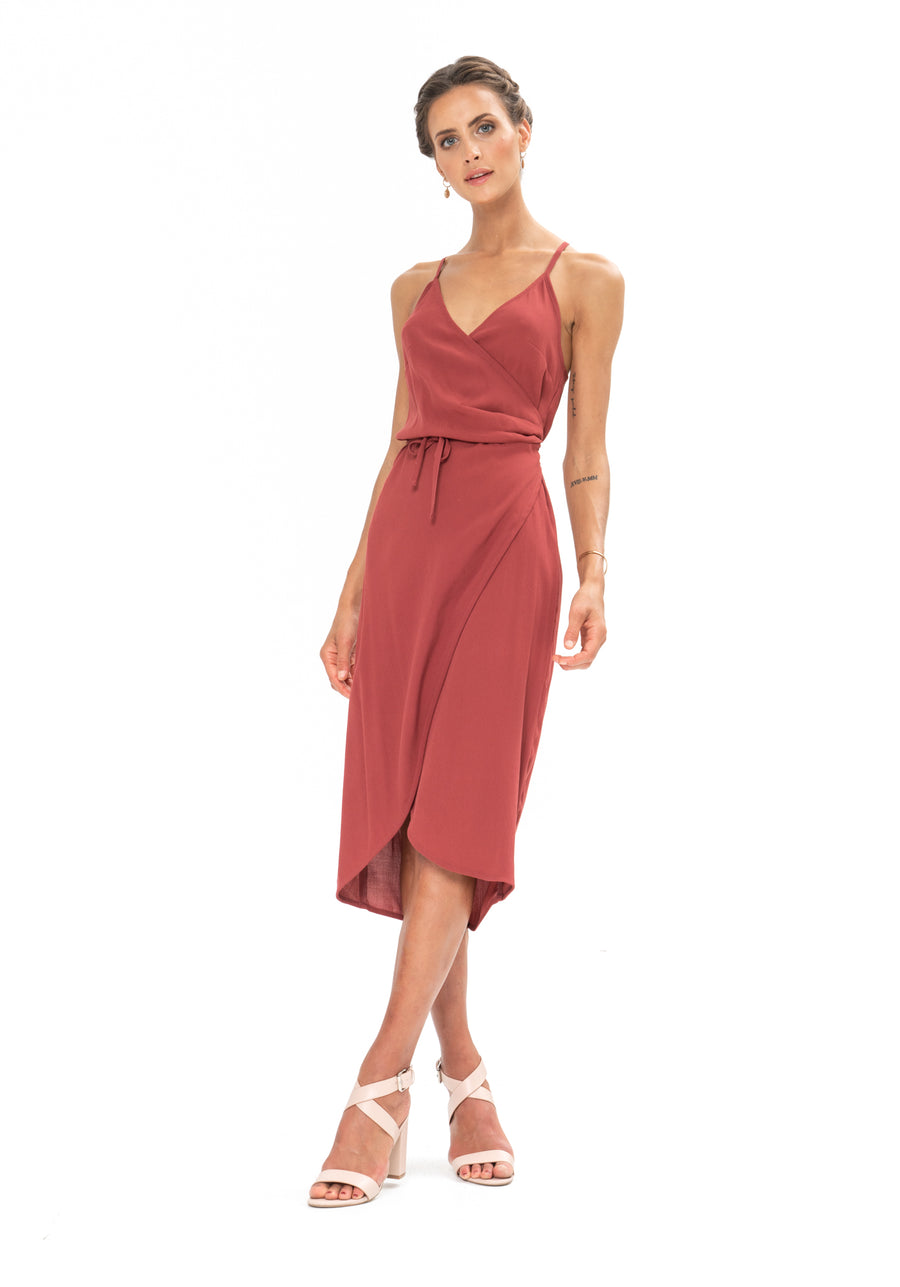 Friday Wrap Dress - Dusky Plum