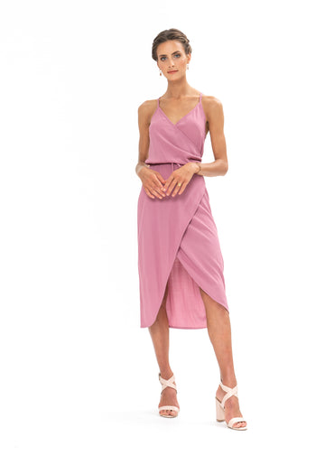 Friday Wrap Dress - Purple Blush