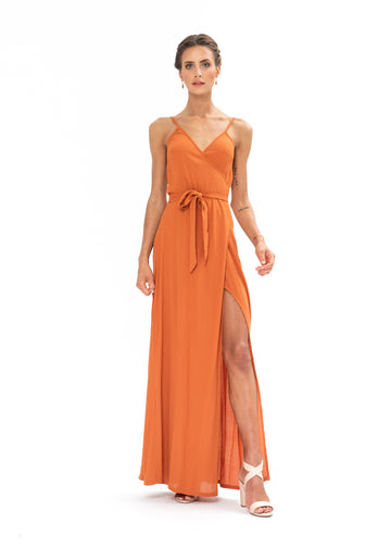Signature Wrap Dress - Burnt Orange