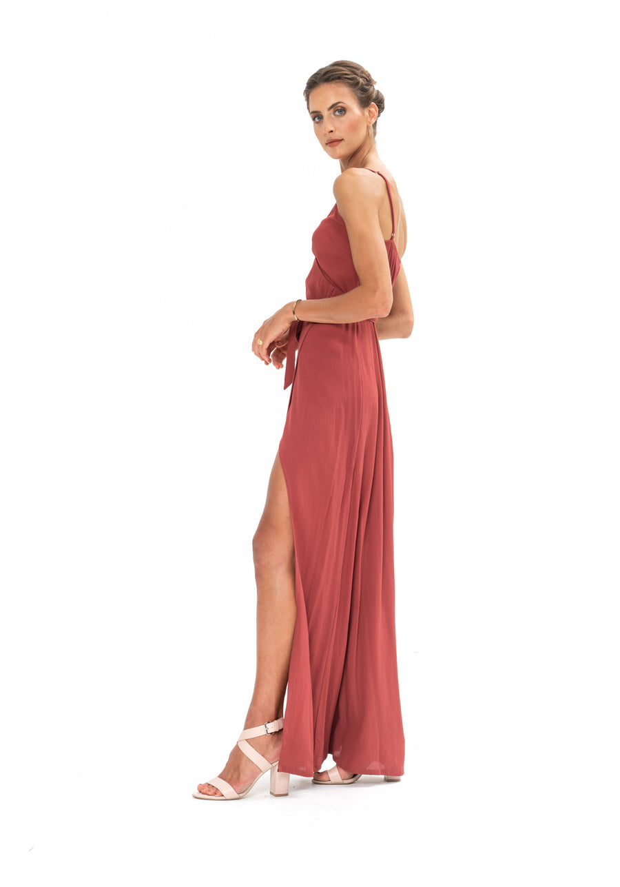 Signature Wrap Dress - Dusky Plum