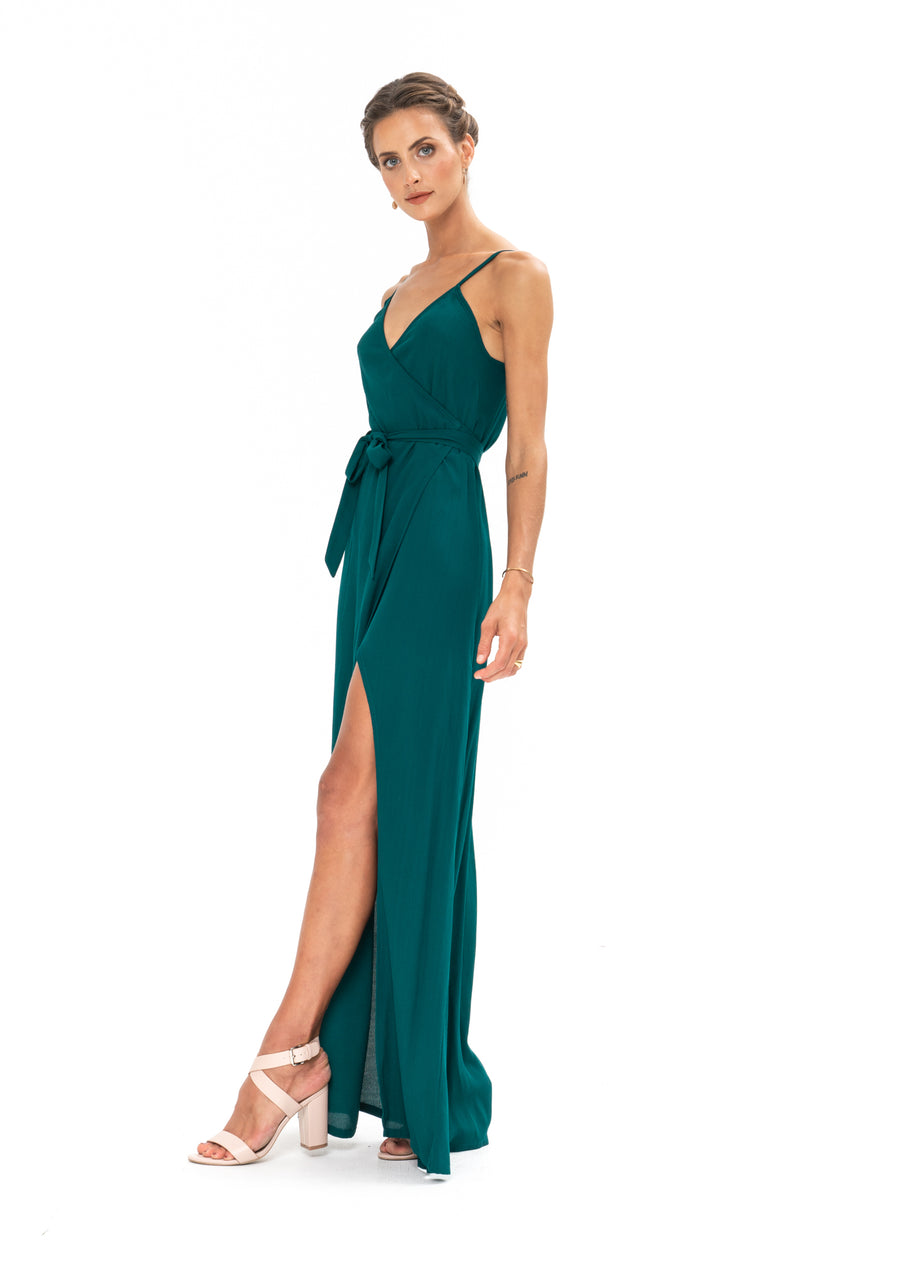 Signature Wrap Dress - Emerald Green