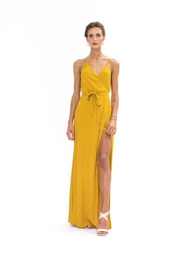 Signature Wrap Dress - Gold