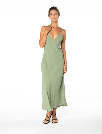 Jessica Dress - Sage Craft Green