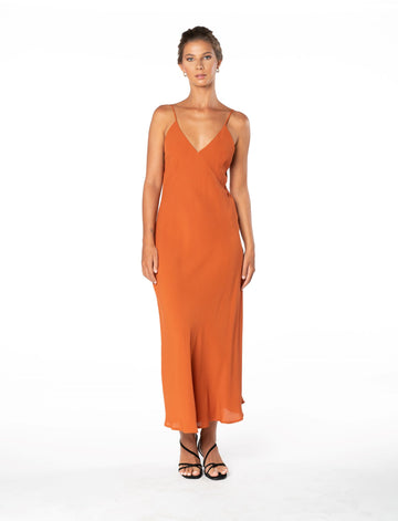 Jessica Dress - Burnt Orange