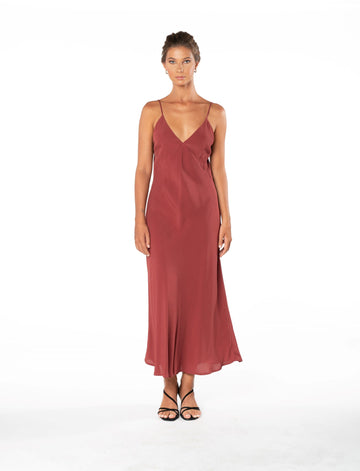 Jessica Dress - Dusky Plum