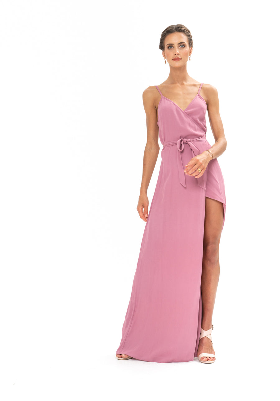 Signature Wrap Dress - Purple Blush