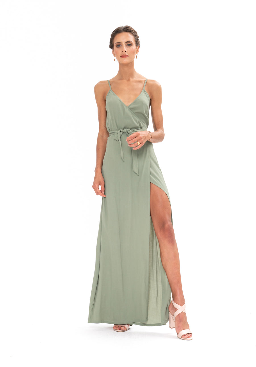 Signature Wrap Dress - Sage Craft Green
