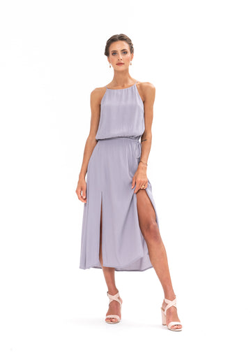 Slasher Dress- Appaloosa Grey