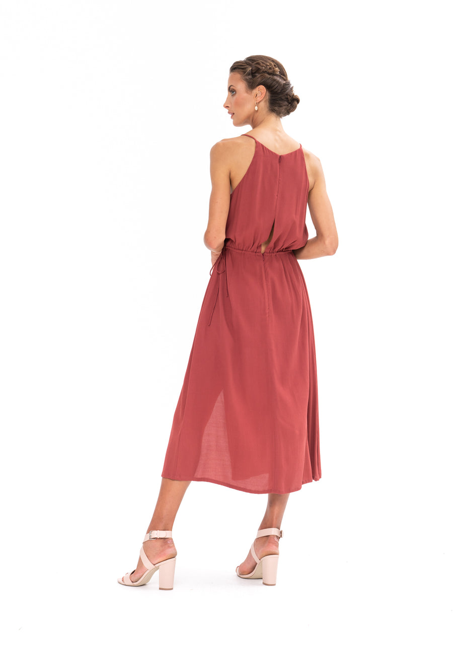 Slasher Dress - Dusky Plum