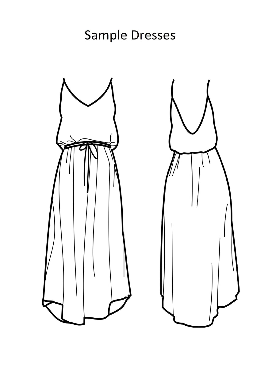 Drawstring Dress - Sample Dress